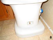 Step 8 Toliet installed