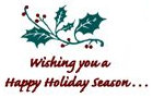 Wishing you a Happy Holiday Season...