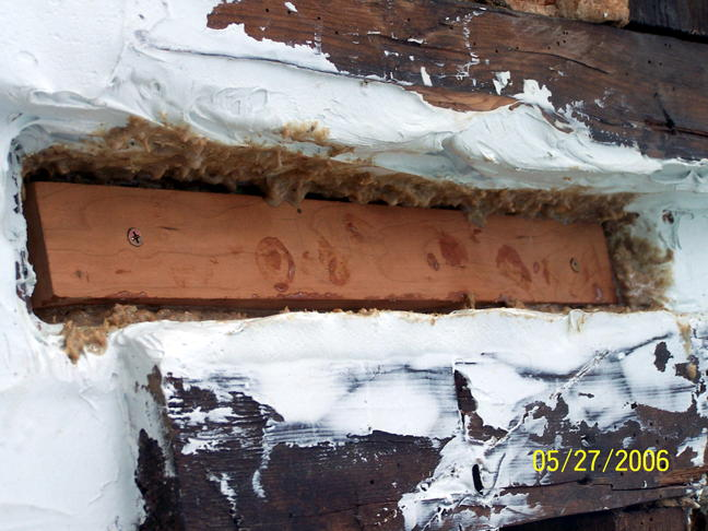 Foundation wall, new wood treated with CPES (6)