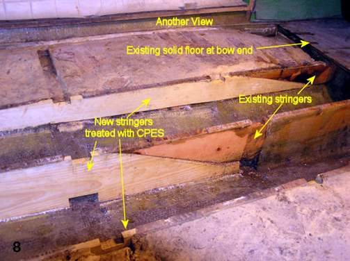 Another view of existing floor at bow end