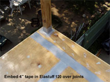 Elastuff 120 over joints