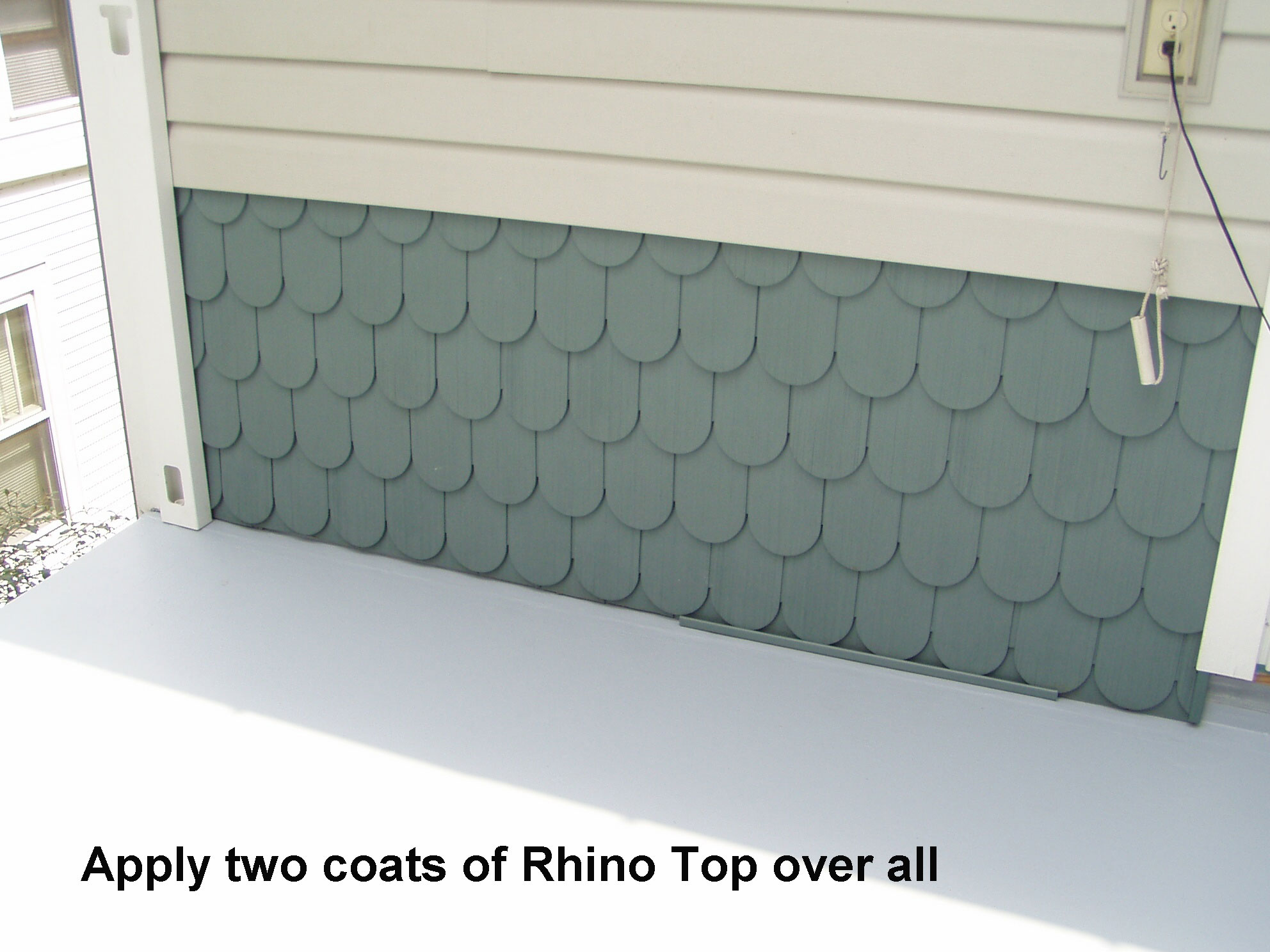 2 coats of Rhino Top