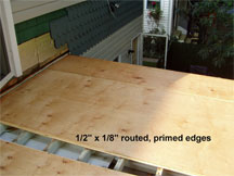 Routed Primed Plywood